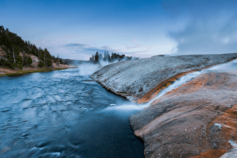 Midway Geyser Basin in Yellowstone National Park, USA